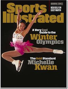 I always get mistaken for Michelle Kwan when I skate in Park City! It's a compliment, honestly. She never won a gold medal but she changed figure skating forever with her gorgeous, artistic spiral sequences! Figure Skating Quotes, Figure Skating Dresses, Olympic Ice Skating, Roller Skating, Sports Illustrated Covers, Kristi Yamaguchi, Winter Olympics, Olympic Gold Medals, Contortion
