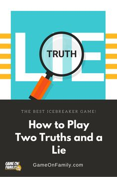 How to Play Two Truths and a Lie – the best icebreaker game! Jeopardy Game For Kids, Fun Icebreaker Games, Icebreakers, Cool Games To Play, Games For Kids, Games For Two People, Fun Classroom Games, Kids Lying, Lying Game