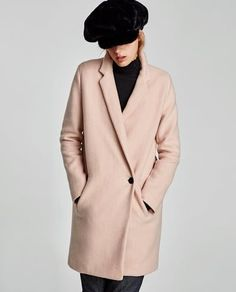 Image 2 of SOFT CROSSOVER COAT from Zara