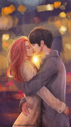 Anime Couples redhead and chinese guy Cute Couple Art, Anime Love Couple, Couple Cartoon, Cute Anime Couples, Joanne K Rowling, Manga Romance, Teenage Love Quotes, Vie Motivation, Couple Illustration