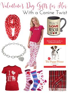 Valentine's Day Gifts for The Dog Lovin' Lady in Your Life | http://www.thelazypitbull.com/2016/01/valentines-day-gifts-for-her/