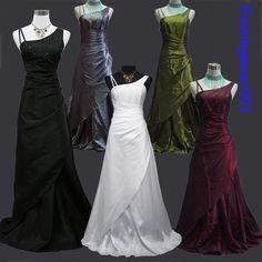 Cherlone Satin Long Ball Formal Bridesmaid Ballgown Wedding/Evening Gown Dress