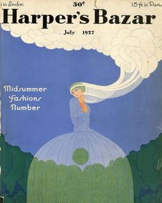 "( ""Cover by Erté for Harper's Bazaar—then Harper's Bazar—July 1927 Harper's Magazine, Magazine Covers, Vintage Vogue, Vintage Ads, Vintage Fashion, Children's Book Illustration, Illustrations, Vogue Covers, The New Yorker"