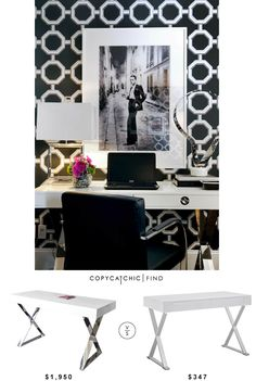 @wayfair Jonathan Adler Channing Writing Desk | $1,950 Vs Modway Sector Writing Desk | $347