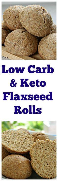 Low carb & Gluten Free Bread Rolls https://divaliciousrecipes.com/2016/05/06/low-carb-flaxseed-psyllium-bread-rolls/