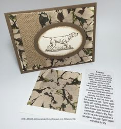 Pic includes directions on How to make the Camouflage or Camo Technique using The Wilderness Awaits Stamp Set from Stampin' Up!