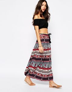 Esprit Printed Maxi Skirt