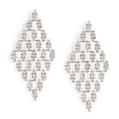 Clear Rhinestone Kite Earrings ($11) via Polyvore