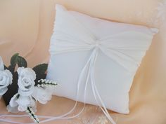 Crystal Accented Bridal Ring Bearer Pillow RP 11