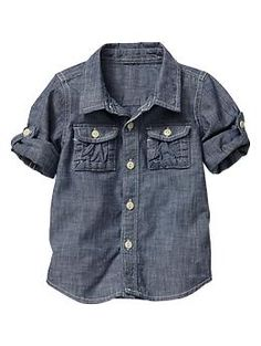 Chambray convertible shirt | Gap
