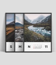 A colorfully monthly calendar with a minimal design inspired by our favorites places in Norway, Iceland, Sweden and Faroe Islands. #flatcher #poster #minimalism #graphicdesign #periodictable #sport #photography #etsy #giftforhim #poster #north #print #iceland #sweden #norway #faroeislands #calendar #2018 #download