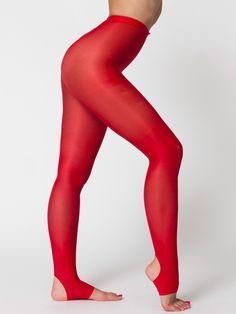 American Apparel - Shiny Stirrup Pantyhose