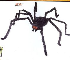 DELUXE HALLOWEEN MOVING AND SHAKING CREEPY SPIDER! by The Gothic Collection. $21.94. Stretches to 58 Inches Wide!. LIGHTS UP! SHAKES WITH HALLOWEEN SOUNDS!. GIANT SHAKING AND MOVING HALLOWEEN SPIDER!. A GREAT ADDITION TO YOUR HALLOWEEN HAUNTED HOUSE!. Body:  11 inches x 4 inches tall.. This creepy spider is sure to scare away all of those  pesky trick or treaters!  He stretches out to 58 inches, and his fat body is 11 x 4 inches.  He has red jeweled eyes that li...