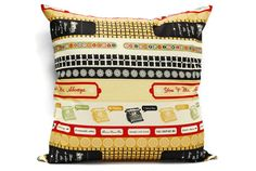 Typewriter decorative pillow cover 18x18 inch