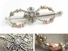 Love these hair clips, wear them almost everyday! 20% off for black friday  Lilla Rose Inc - Roman Style Cross with a mix of gold, copper, and silver accents. A perfect combination!