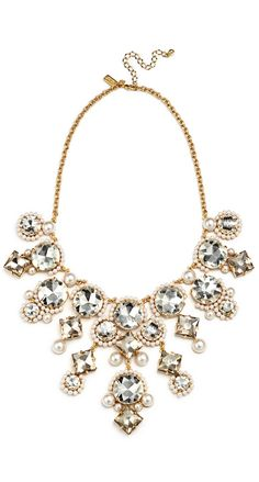 Sparkly statement necklace by kate spade new york | NYE accessories