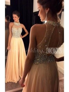 US$150.20-A Line/Princess Sleeveless Chiffon Crystal High Neck Sweep/Brush Train Gold Prom Dress. http://www.doriswedding.com/a-line-princess-sleeveless-chiffon-crystal-high-neck-sweep-brush-train-dresses-p318083.html. Sequin prom dress, beaded prom dress, vintage prom dress 2016, two-pieces prom dress, satin prom dress, long prom dress, elegant prom dress, follow us to get more special offer! #DorisWedding.com