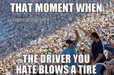 When Kyle Busch and Brad Keselowski blow a tire Nascar Quotes, Nascar Memes, Racing Quotes, Truck Memes, Car Jokes, Sports Memes, Porsche, Audi, Dirt Track Racing