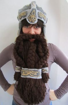 Epic Crocheted Dwarven Helmet To Keep You Warm - The Hobbit: The Desolation of Smaug premiere, anyone?