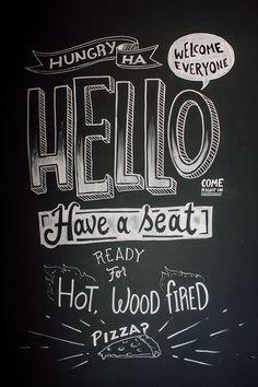 TJ's Woodfire Pizza Chalk Wall: San Clemente, CA