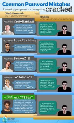 Common password mistakes infographic