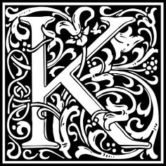 Free Clipart: William Morris Letter K | Symbol | kuba