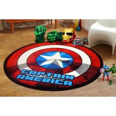 Buy Sphinxs  Captain America Shield Rug 100 x 100cm at Deals Direct for $27.96.