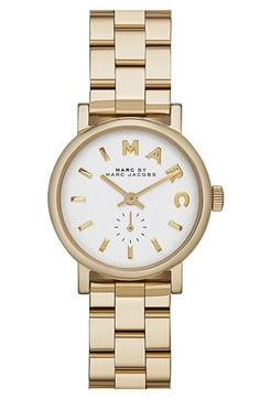 MARC BY MARC JACOBS 'Baker' Round Bracelet Watch, 28mm available at #Nordstrom