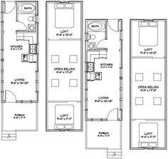 10x28 2-Bedroom 1-Bath Tiny Houses 466 sq by ExcellentFloorPlans