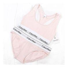 58fffb352ad8c Calvin Klein Pink Underwear and Bralette ♡