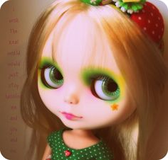 Green Eyed Girl....These dolls almost look like they have souls:)