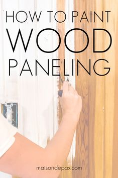 Wondering how to paint wood paneling? Whether you have real wood planks or a faux wood paneling, watch this VIDEO TUTORIAL to find out all you need to know about painting wood paneling! Painting Wood Paneling, Painting Cabinets, Paneling Painted, Painted Wood Walls, Basement Inspiration, Best Paint Colors, Paint Colors For Living Room, Cool Diy Projects, Wood Projects