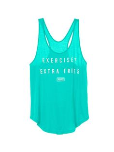 Exercise? Extra Fries Racerback Tank - PINK - Victoria's Secret