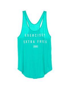 Exercise? Extra Fries Racerback Tank - PINK - Victoria's Secret