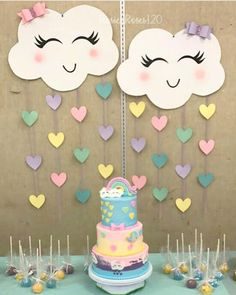 baby shower decorations 859272803890346181 - Ideas For Baby Shower Decoracion Arcoiris Source by dijanaro Rainbow Birthday Party, Unicorn Birthday Parties, Diy Birthday, Unicorn Party, Birthday Party Decorations, Baby Shower Decorations, Craft Party, Cloud Party, Crafts For Kids