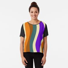 Cotton Tote Bags, Chiffon Tops, Fitness Models, Abstract, Printed, Awesome, Sleeves, How To Wear, Stuff To Buy