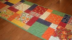 Quilted Fall Table Runner Quilted Table Runner Autumn