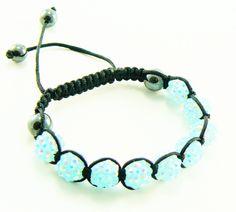 Shamballa bracelet blue lagoon