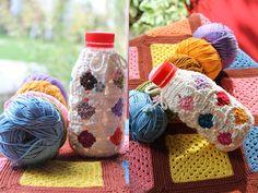Cute little bottle cover in crochet