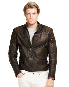 Riktigt snygg MC-jacka. Leather Café Racer Jacket - Leather & Suede  Jackets & Outerwear - RalphLauren.com