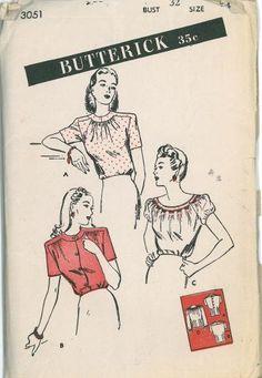 40's blouse pattern