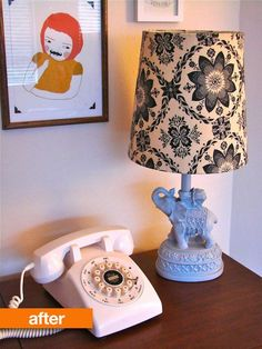 quirky elephant lamp