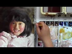 Watercolor Portrait of a Child from Photograph - YouTube
