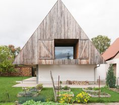 Disneyland mountain house reinterprets vernacular architecture of Alsace in France exterior