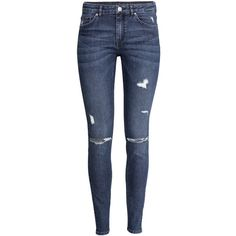 H&M Slim Regular Jeans ($30) ❤ liked on Polyvore featuring jeans, pants, bottoms, calças, dark denim blue, h&m, blue slim jeans, slim leg jeans, h&m jeans and blue jeans