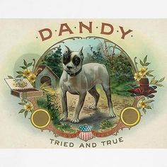 Dandy Cigar Box Art, Vintage Cigar Box, Wooden Cigar Boxes, Vintage Labels, Vintage Signs, Vintage Ads, Dog Heaven, Printable Art, Printables