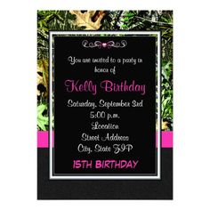 Oh Deer Pink Camo Birthday Invitation by MarysPartyDesigns on Etsy