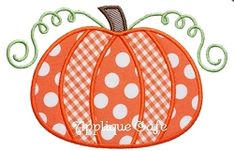 Pumpkin 5 Applique - 3 Sizes! | Fall | Machine Embroidery Designs | SWAKembroidery.com Applique Cafe