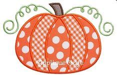 Pumpkin 5 Applique - 3 Sizes! | Fall | Machine Embroidery Designs | SWAKembroidery.com
