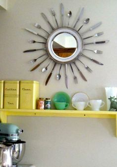 Cool craft ideas DIY craft ideas old of kitchen stuff tray cutlery